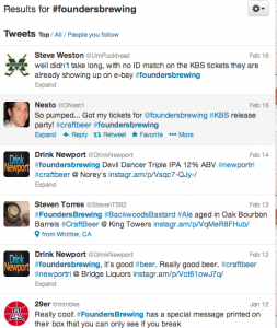 Founders Brewing Hashtags