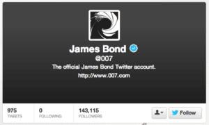 James Bond Twitter Account