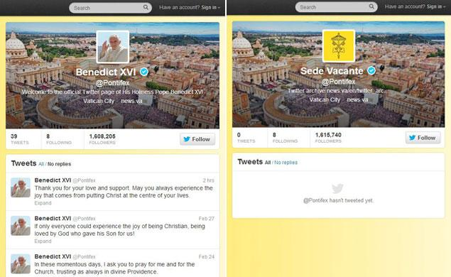 Pope Twitter Accounts