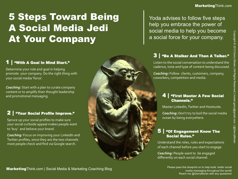 5 Steps Toward Being A Social Media Jedi At Your Company