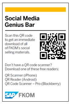 QR Code Signage | SAP