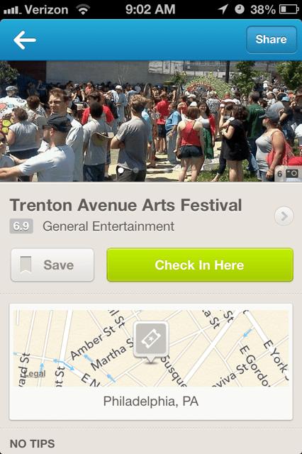 Trenton Arts Festival Foursquare