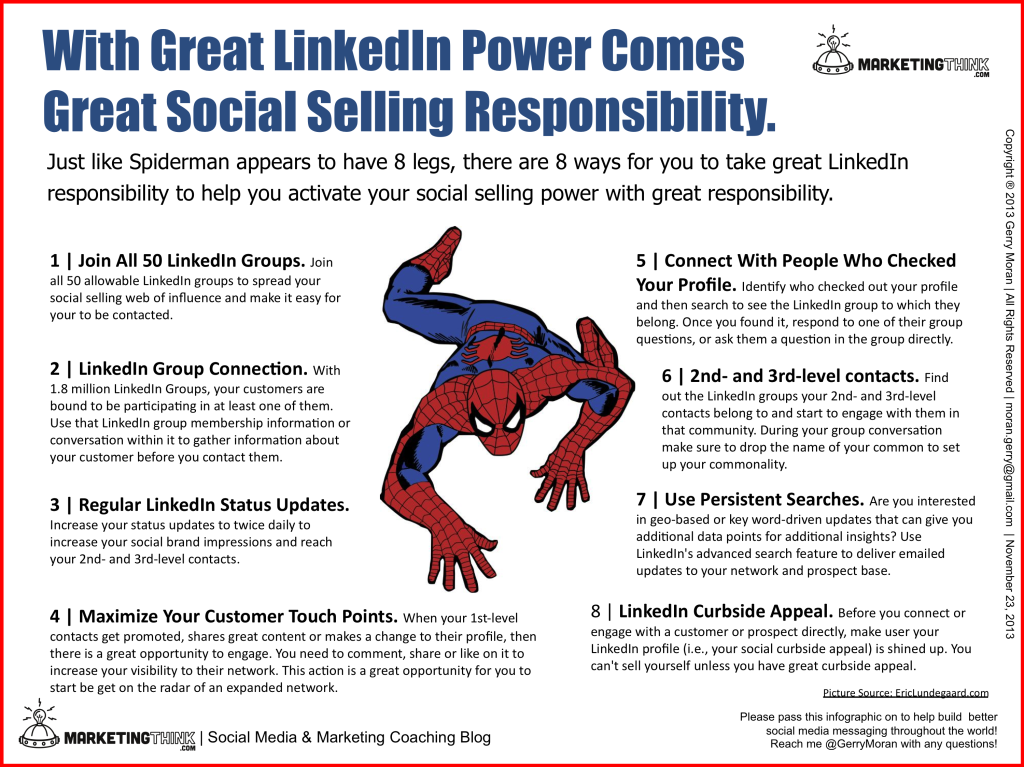 With Great LinkedIn Power Comes Great Social Selling Responsibility