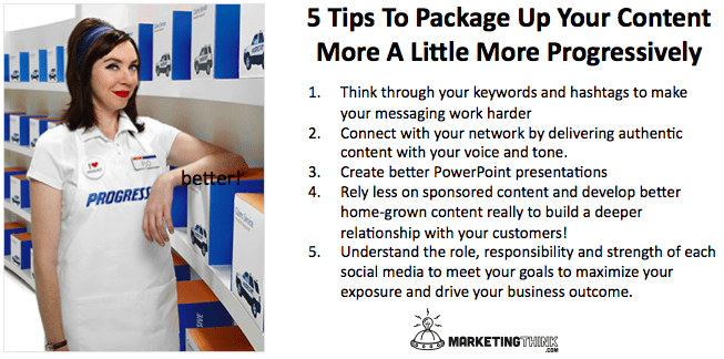Content Marketing Tips | MarketingThink.com | @GerryMoran