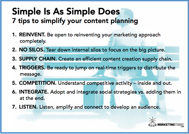 Simple is as simple does | content marketing