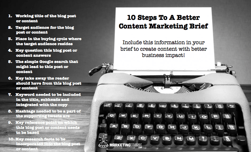 Content Marketing Brief | MarketingThink.com | @GerryMoran