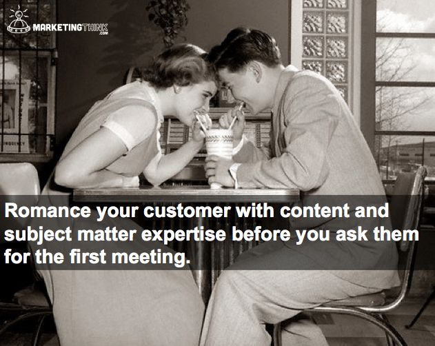 Customer Romance | MarketingThink.com | @GerryMoran