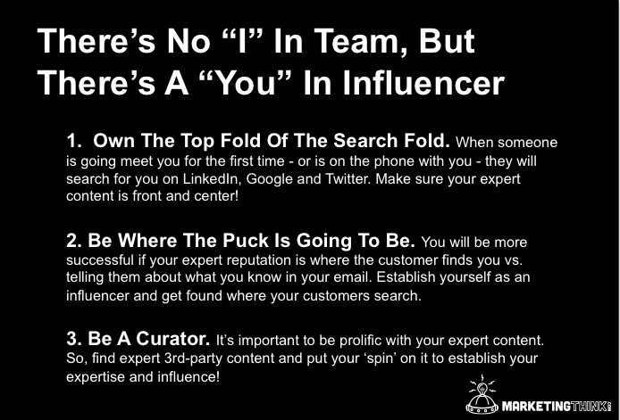 Social Selling Influencer | MarketingThink.com | @GerryMoran