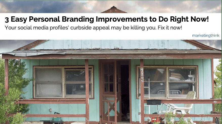 personal branding improvements
